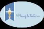 Première communion Étiquettes carrées - gabarit prédéfini. <br/>Utilisez notre logiciel Avery Design & Print Online pour personnaliser facilement la conception.