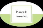 Traitement en vert Étiquettes carrées - gabarit prédéfini. <br/>Utilisez notre logiciel Avery Design & Print Online pour personnaliser facilement la conception.
