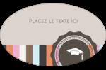 Mortier de diplômé Étiquettes carrées - gabarit prédéfini. <br/>Utilisez notre logiciel Avery Design & Print Online pour personnaliser facilement la conception.