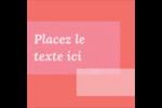 Traitement rose Étiquettes carrées - gabarit prédéfini. <br/>Utilisez notre logiciel Avery Design & Print Online pour personnaliser facilement la conception.