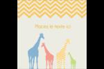Girafe en fête Étiquettes carrées - gabarit prédéfini. <br/>Utilisez notre logiciel Avery Design & Print Online pour personnaliser facilement la conception.