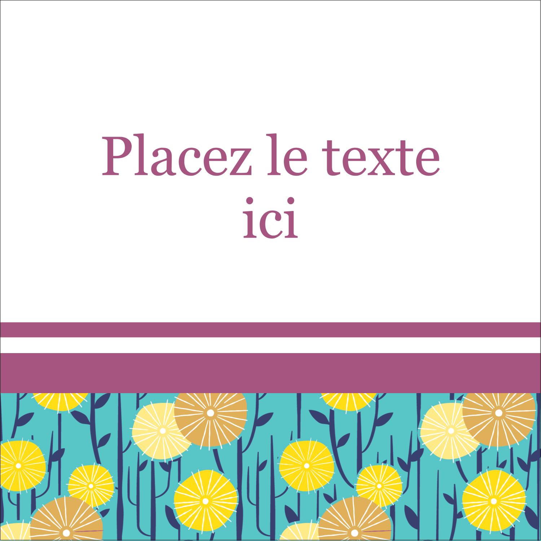 """1½"""" x 1½"""" Étiquettes carrées - Impression pissenlit"""
