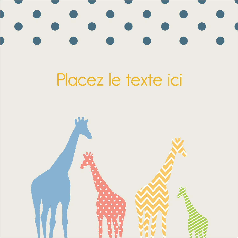 """2"""" Diameter Étiquettes rondes - Girafe en fête"""