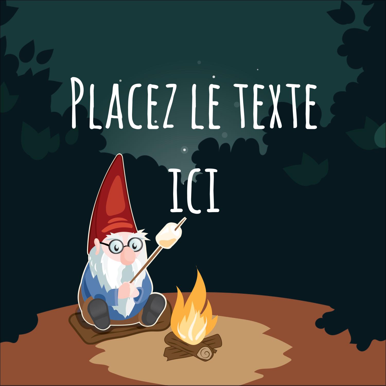 """2"""" Diameter Étiquettes rondes - Gnome en camping"""