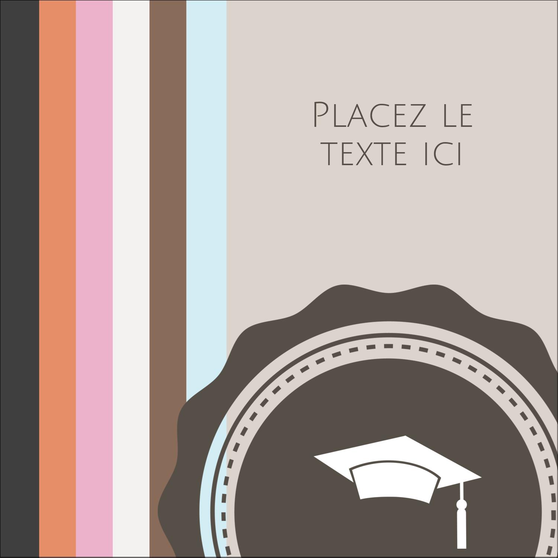 """2"""" Diameter Étiquettes rondes - Mortier de diplômé"""