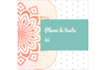 Napperon géométrique Étiquettes enveloppantes - gabarit prédéfini. <br/>Utilisez notre logiciel Avery Design & Print Online pour personnaliser facilement la conception.