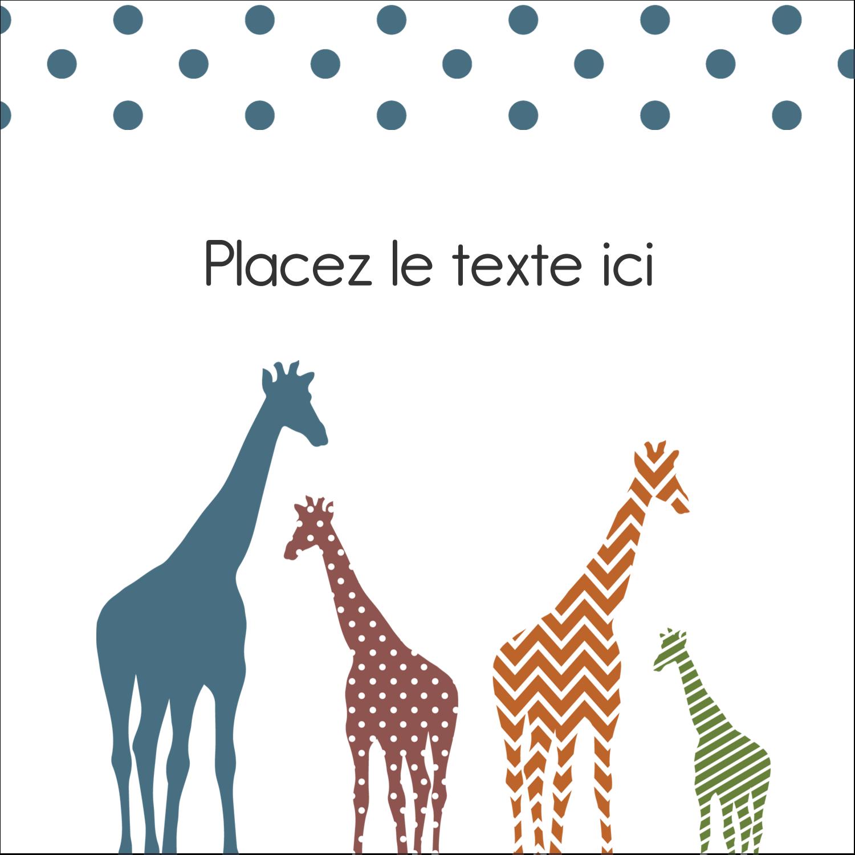 """9¾"""" x 1¼"""" Étiquettes enveloppantes - Girafe en fête"""