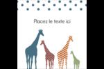 Girafe en fête Étiquettes enveloppantes - gabarit prédéfini. <br/>Utilisez notre logiciel Avery Design & Print Online pour personnaliser facilement la conception.