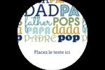 Papas du monde Étiquettes rondes - gabarit prédéfini. <br/>Utilisez notre logiciel Avery Design & Print Online pour personnaliser facilement la conception.