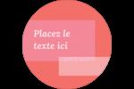 Traitement rose Étiquettes rondes - gabarit prédéfini. <br/>Utilisez notre logiciel Avery Design & Print Online pour personnaliser facilement la conception.