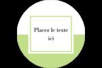 Traitement en vert Étiquettes rondes - gabarit prédéfini. <br/>Utilisez notre logiciel Avery Design & Print Online pour personnaliser facilement la conception.