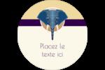 Éléphant géométrique Étiquettes rondes - gabarit prédéfini. <br/>Utilisez notre logiciel Avery Design & Print Online pour personnaliser facilement la conception.