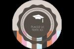Mortier de diplômé Étiquettes rondes - gabarit prédéfini. <br/>Utilisez notre logiciel Avery Design & Print Online pour personnaliser facilement la conception.