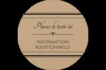 Grand chic Étiquettes arrondies - gabarit prédéfini. <br/>Utilisez notre logiciel Avery Design & Print Online pour personnaliser facilement la conception.