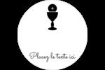 Première communion Étiquettes arrondies - gabarit prédéfini. <br/>Utilisez notre logiciel Avery Design & Print Online pour personnaliser facilement la conception.