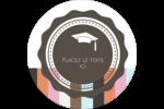 Mortier de diplômé Étiquettes arrondies - gabarit prédéfini. <br/>Utilisez notre logiciel Avery Design & Print Online pour personnaliser facilement la conception.