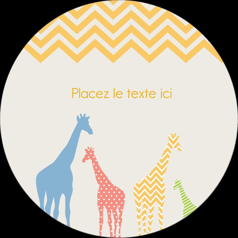 """3-7/16"""" x 15/16"""" Étiquettes de classement - Girafe en fête"""