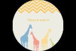 Girafe en fête Étiquettes de classement - gabarit prédéfini. <br/>Utilisez notre logiciel Avery Design & Print Online pour personnaliser facilement la conception.