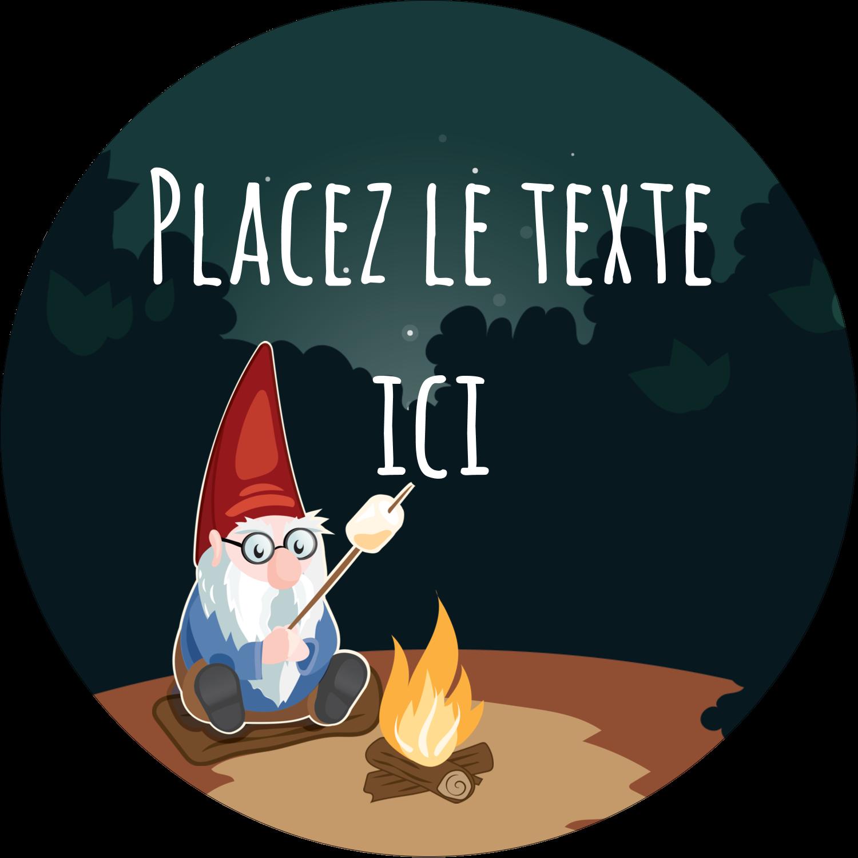 "3-7/16"" x 15/16"" Étiquettes de classement - Gnome en camping"