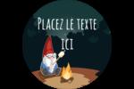 Gnome en camping Étiquettes de classement - gabarit prédéfini. <br/>Utilisez notre logiciel Avery Design & Print Online pour personnaliser facilement la conception.