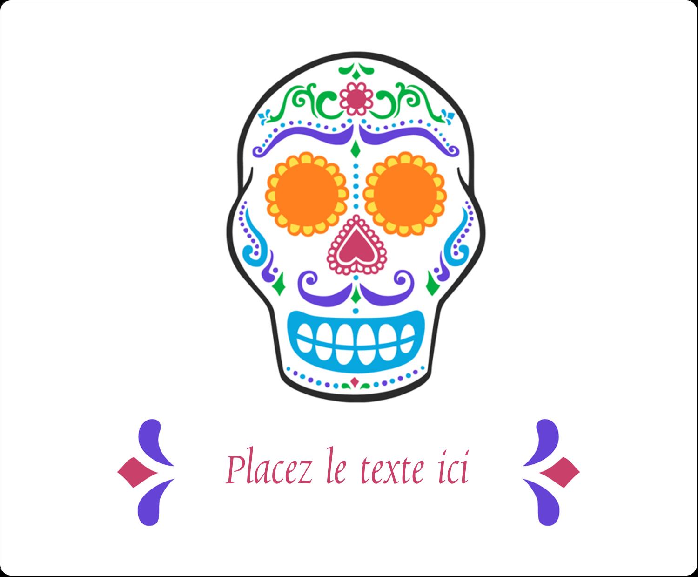 """3⅓"""" x 4"""" Étiquettes d'expédition - Le jour du Crâne"""