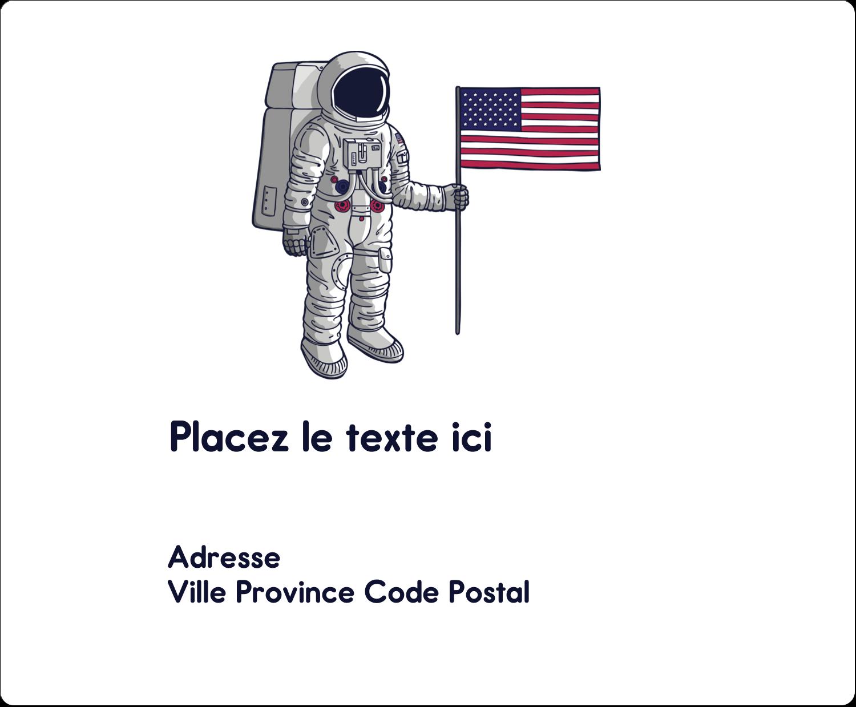 """3⅓"""" x 4"""" Étiquettes d'expédition - Astronaute"""