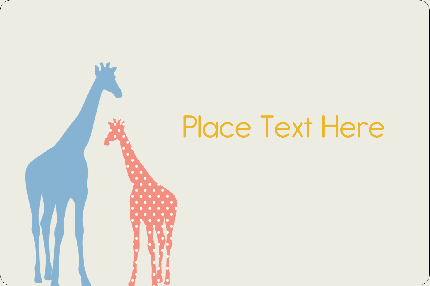 "2"" x 3"" Rectangular Label - Giraffe Party"