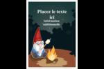 Gnome en camping Étiquettes rondes - gabarit prédéfini. <br/>Utilisez notre logiciel Avery Design & Print Online pour personnaliser facilement la conception.