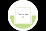 Traitement en vert Étiquettes arrondies - gabarit prédéfini. <br/>Utilisez notre logiciel Avery Design & Print Online pour personnaliser facilement la conception.