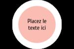 Traitement Sphère rose Étiquettes arrondies - gabarit prédéfini. <br/>Utilisez notre logiciel Avery Design & Print Online pour personnaliser facilement la conception.