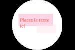Traitement rose Étiquettes arrondies - gabarit prédéfini. <br/>Utilisez notre logiciel Avery Design & Print Online pour personnaliser facilement la conception.