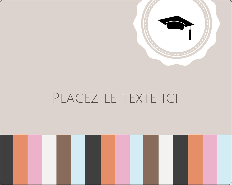 """2"""" Diameter Étiquettes rondes gaufrées - Mortier de diplômé"""
