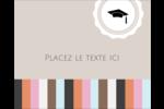 Mortier de diplômé Étiquettes rondes gaufrées - gabarit prédéfini. <br/>Utilisez notre logiciel Avery Design & Print Online pour personnaliser facilement la conception.