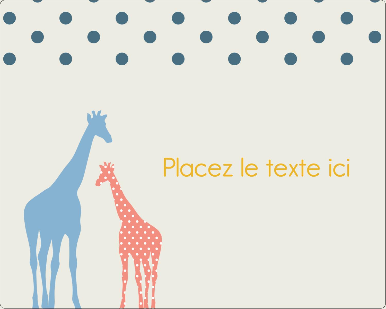"""2"""" Diameter Étiquettes rondes gaufrées - Girafe en fête"""