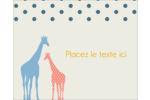 Girafe en fête Étiquettes rondes gaufrées - gabarit prédéfini. <br/>Utilisez notre logiciel Avery Design & Print Online pour personnaliser facilement la conception.