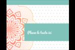 Napperon géométrique Étiquettes rondes gaufrées - gabarit prédéfini. <br/>Utilisez notre logiciel Avery Design & Print Online pour personnaliser facilement la conception.