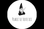 Gnome en camping Étiquettes arrondies - gabarit prédéfini. <br/>Utilisez notre logiciel Avery Design & Print Online pour personnaliser facilement la conception.