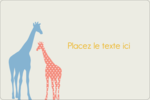 Girafe en fête Étiquettes rectangulaires - gabarit prédéfini. <br/>Utilisez notre logiciel Avery Design & Print Online pour personnaliser facilement la conception.