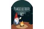 Gnome en camping Étiquettes rectangulaires - gabarit prédéfini. <br/>Utilisez notre logiciel Avery Design & Print Online pour personnaliser facilement la conception.