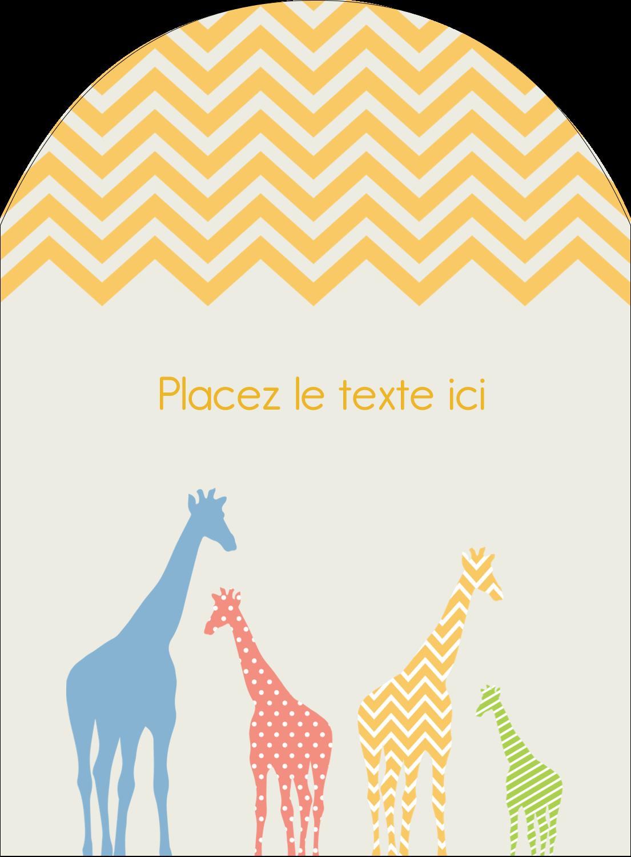 """4¾"""" x 3½"""" Étiquettes rectangulaires - Girafe en fête"""