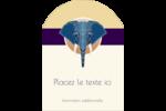 Éléphant géométrique Étiquettes rectangulaires - gabarit prédéfini. <br/>Utilisez notre logiciel Avery Design & Print Online pour personnaliser facilement la conception.