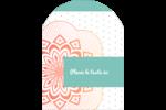 Napperon géométrique Étiquettes rectangulaires - gabarit prédéfini. <br/>Utilisez notre logiciel Avery Design & Print Online pour personnaliser facilement la conception.