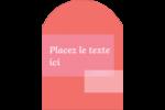 Traitement rose Étiquettes rectangulaires - gabarit prédéfini. <br/>Utilisez notre logiciel Avery Design & Print Online pour personnaliser facilement la conception.