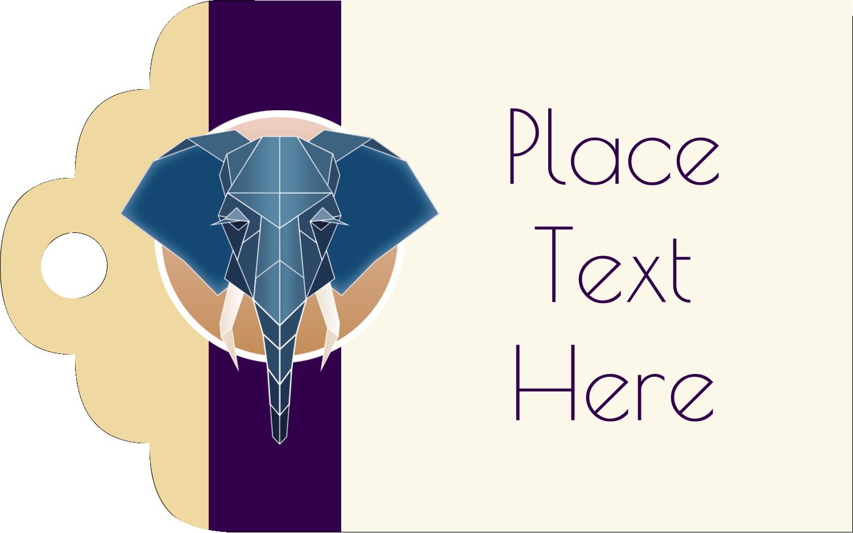 "2"" x 1⅛"" Printable Tags - Geometric Elephant"