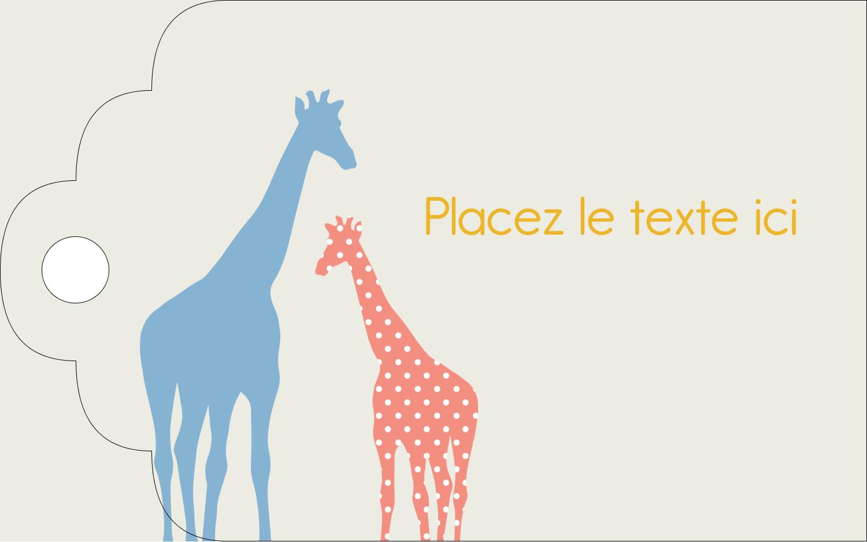 """2"""" x 1⅛"""" Étiquettes imprimables - Girafe en fête"""