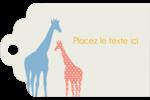 Girafe en fête Étiquettes imprimables - gabarit prédéfini. <br/>Utilisez notre logiciel Avery Design & Print Online pour personnaliser facilement la conception.