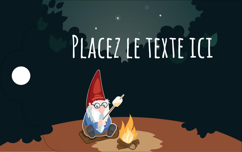 """2"""" x 1⅛"""" Étiquettes imprimables - Gnome en camping"""