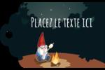 Gnome en camping Étiquettes imprimables - gabarit prédéfini. <br/>Utilisez notre logiciel Avery Design & Print Online pour personnaliser facilement la conception.