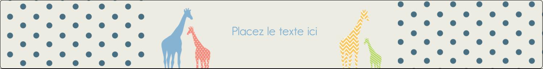 """1½"""" x 2½"""" Étiquettes ovales - Girafe en fête"""