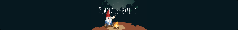 "1½"" x 2½"" Étiquettes ovales - Gnome en camping"